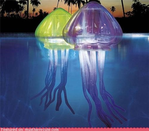 jellyfish,LED,lights,outdoor,pool,water