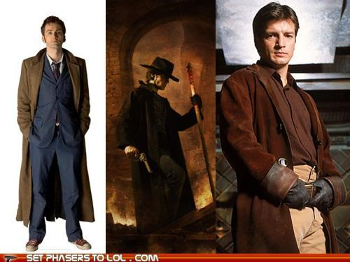 Browncoats costume dresden files halloween Mal Reynolds the doctor trench coat