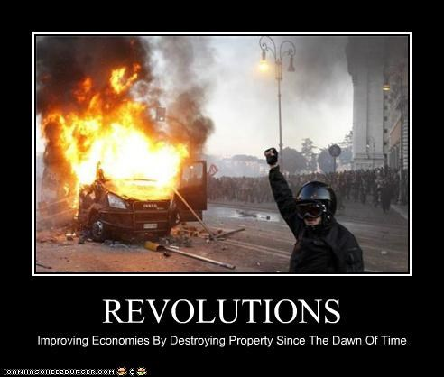 REVOLUTIONS Improving Economies By Destroying Property Since The Dawn Of Time
