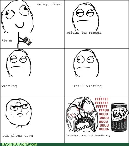 phone,Rage Comics,text,waiting