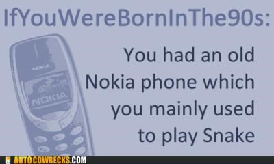 90s,games,Hall of Fame,nokia,oldschool,snake