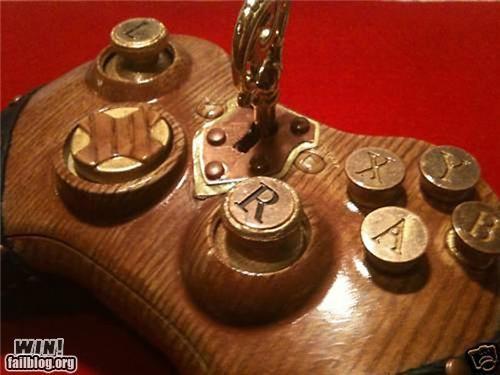 controller custom DIY Hall of Fame nerdgasm Steampunk wood xbox - 5352140288
