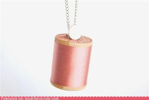 accessories,Jewelry,necklace,spool,thread