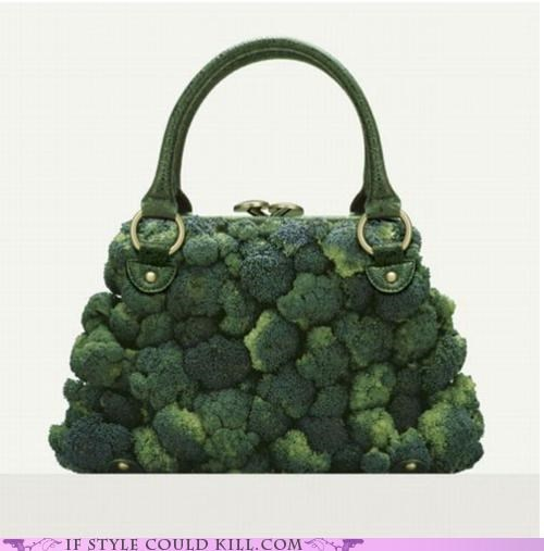 bag,broccoli,cool accessories,food,purse