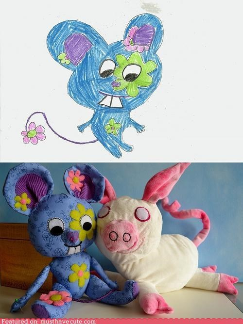 custom,drawings,Plush,toys