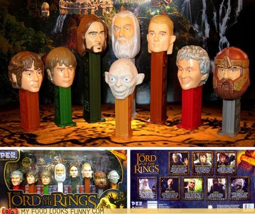 candy characters Lord of the Rings pez - 5352210432