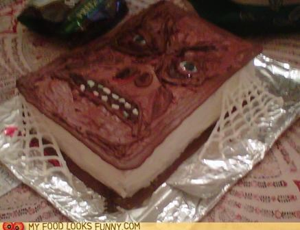 best of the week,book,cake,face,frosting,halloween,necronomicon,skin