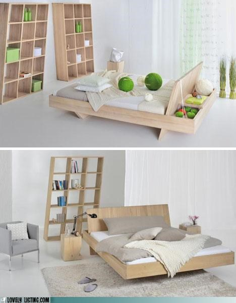 bed,compartments,headboard