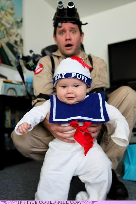 Babies,children,cool accessories,costume,Ghostbusters,halloween,halloween costume,parents