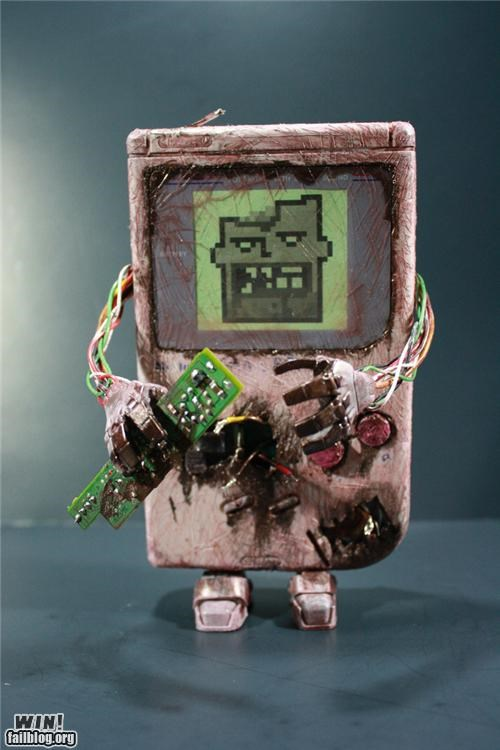 DIY game boy halloween modification nerdgasm zombie