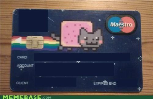 bills credit card IRL Nyan Cat - 5352560384