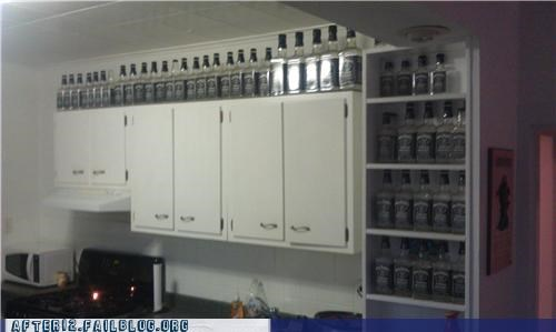 bottles,house,jack daniels,kitchen,thousands of them,whiskey