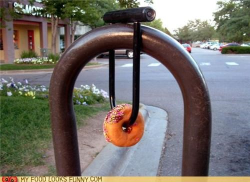 bike lock bike rack donut lock security - 5352599552