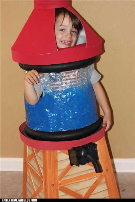 Awkward costume DIY halloween Parenting Fail placement water tower