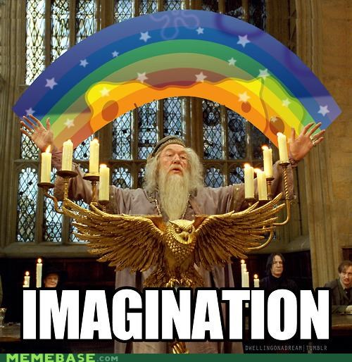 dumbledore Harry Potter Hogwarts imagination Memes voldemort - 5352957952