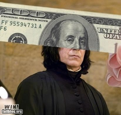 Harry Potter,money,nerdgasm,perspective,Severus Snape,snape
