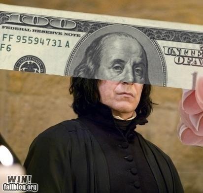 Harry Potter money nerdgasm perspective Severus Snape snape - 5352964096