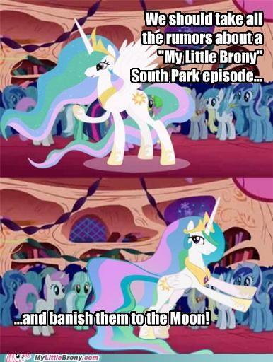 meme my little brony pushing celestia solution South Park - 5353501440