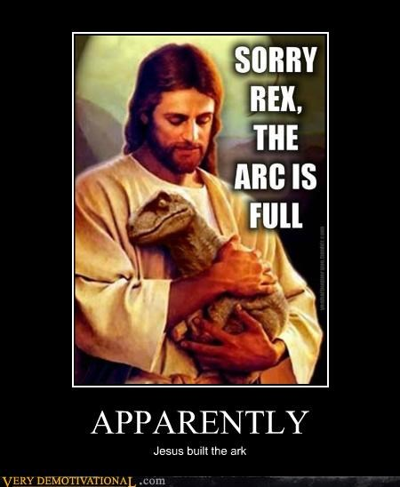 hilarious jesus noahs ark t rex - 5353639424