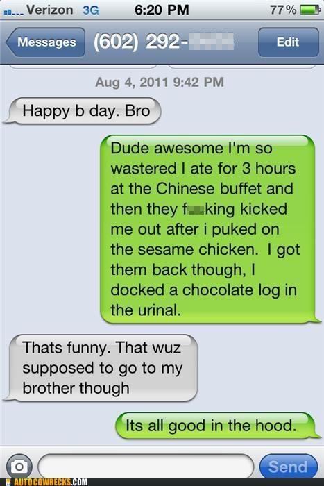 birthday bro buffet carousel poop Trolling Wrong Numbers wrong number - 5353710592