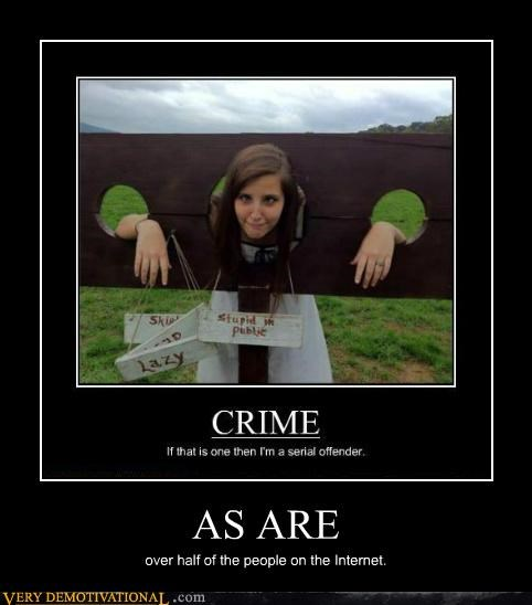 crime idiots internet people stupidity - 5354002688