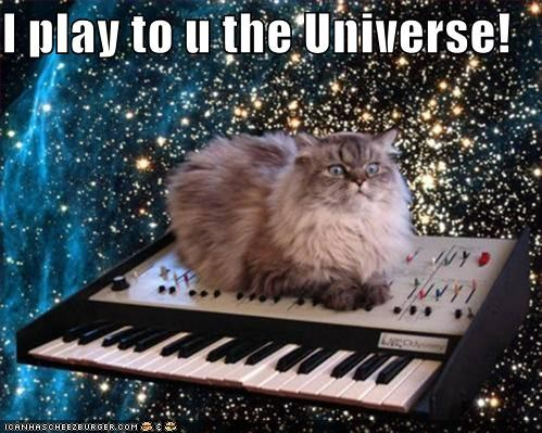 awesome,cat,I Can Has Cheezburger,Music,musicians,photoshopped,universe,universe music