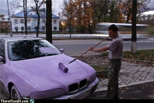 cars,painting,stupidity