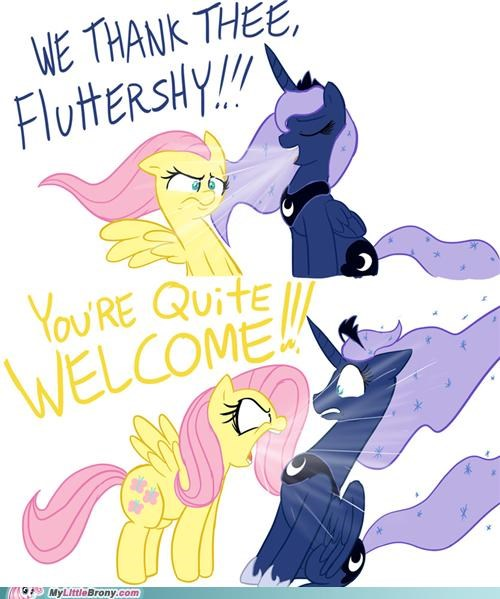 capslock comic comics fluttershy luna thanks youre-welcome - 5355105792