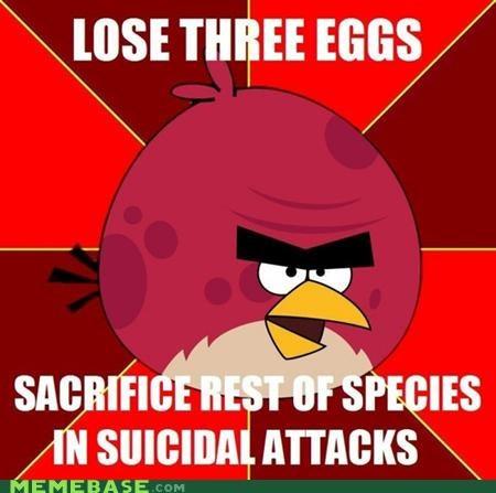 angerbirds angry birds animemes eggs Memes sacrifice suicide video games - 5355330560