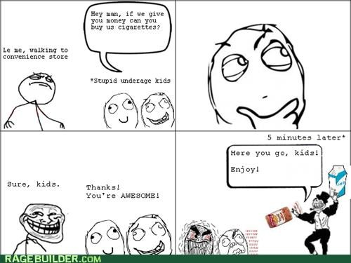 cigarettes milk Rage Comics underaged - 5355338496