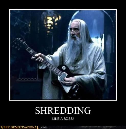 guitar,hilarious,Lord of the Rings,sauramon,shredding