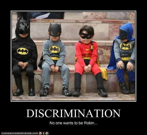 batman,costume,discrimination,kids,robin,Super-Lols