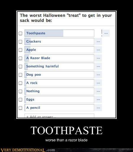 hilarious,poll,razor,toothpaste