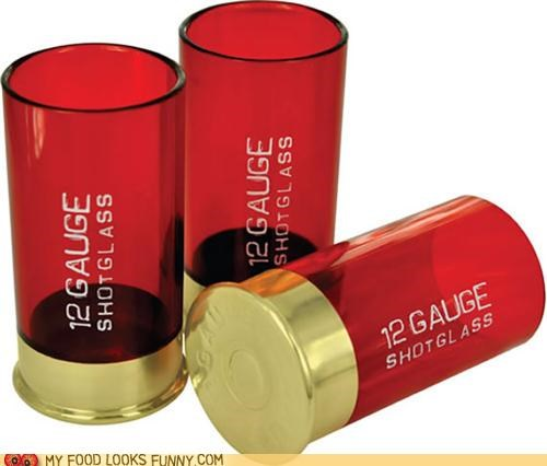 12 gauge alcohol booze shot glasses shotgun shells