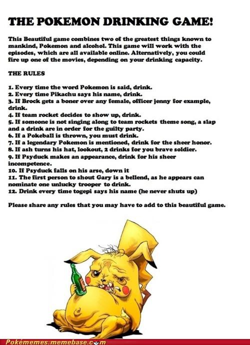 alcohol awesome best of week drinking game drunk episodes Movie pikachu Pokémon toys-games - 5355644672
