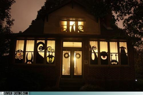 best of the week decor halloween monster windows - 5355688704