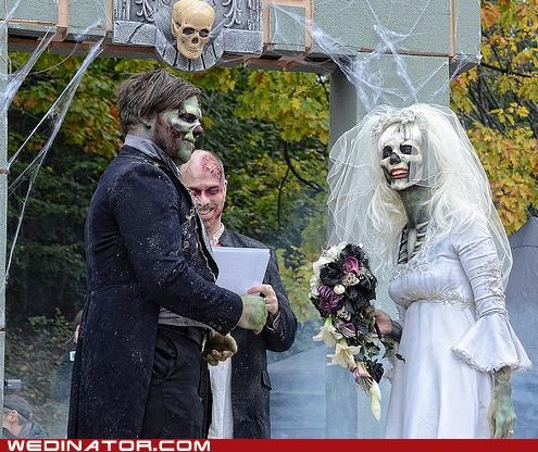bride funny wedding photos groom Hall of Fame toronto undead zombie