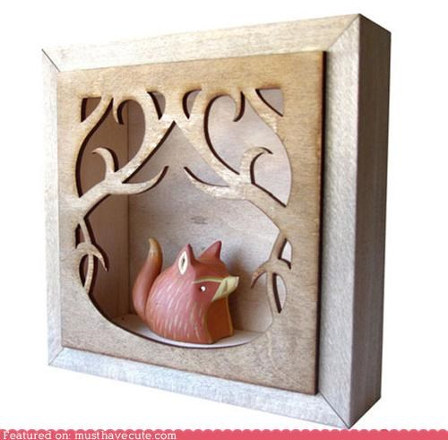 art,best of the week,box,fox,shadowbox