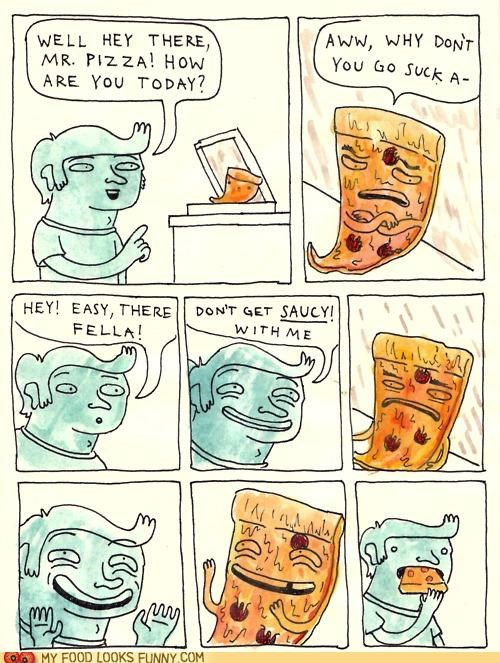 comic horror omg pizza pun saucy - 5355877376