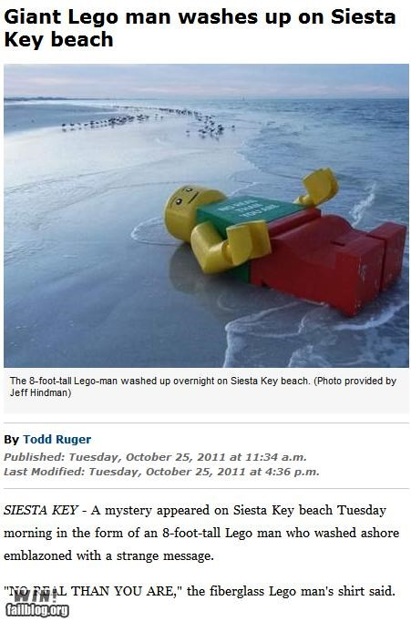 beach,brick,completely relevant news,lego,mysterious,toy,wait what,weird