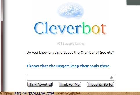 chamber of secrets Cleverbot gingers Harry Potter - 5356165888