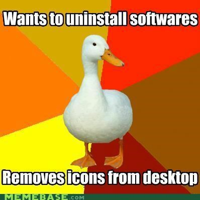 computers desktop disk space icons softwares Technologically Impaired Duck uninstall - 5356176128