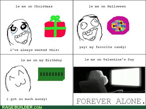 forever alone holidays Rage Comics Valentines day - 5356274176
