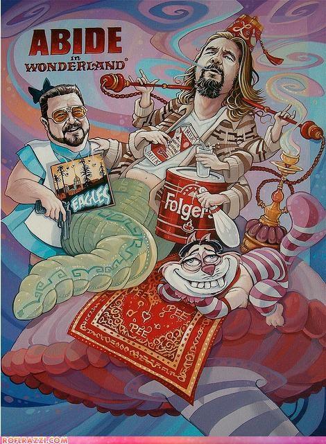 alice in wonderland art cool Hall of Fame jeff bridges john goodman Movie steve buscemi the big lebowski - 5356280320