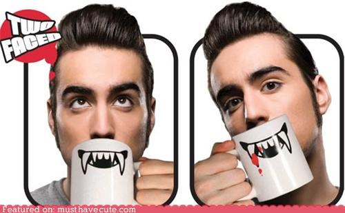 halloween,mouth,mug,smile,teeth,vampire