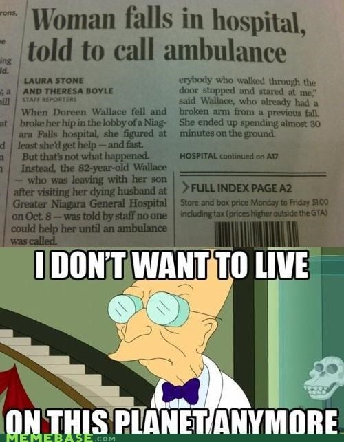 911 ambulance emergency hospital i dont want to live on this planet anymore - 5356343296