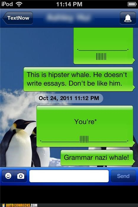 grammar grammar nazi hipster hitler whale whales - 5356349184