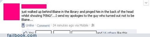library,mistaken identity,oops,ping