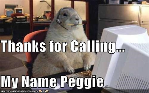 calling caption captioned computer customer service desk gopher headset lolwut name peggy thanks - 5356545280