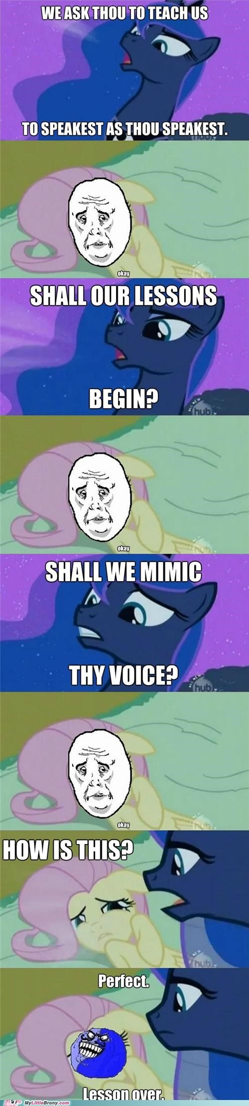 capslock comics fluttershy i lied luna Okay the lesson - 5356585216